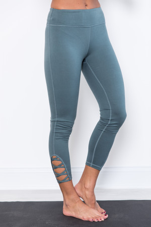 87a165e6462902 12 items. Breathe In The Love Dusty Blue Athletic Leggings