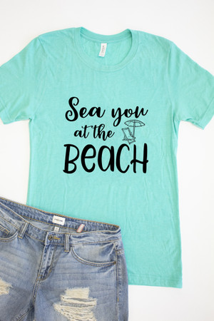 ad73f327eb5 Sea You At The Beach Graphic Tee