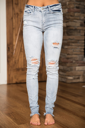 fcd75b8a27f The Claire Light Wash Distressed Jeans