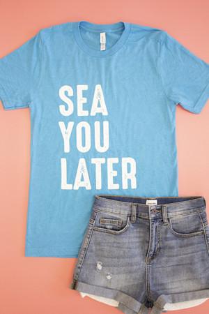 15ef3eeee82f9 Sea You Later Distressed Graphic Tee