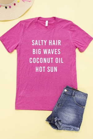 7e7b6550717 Salty Hair Big Waves Graphic Tee