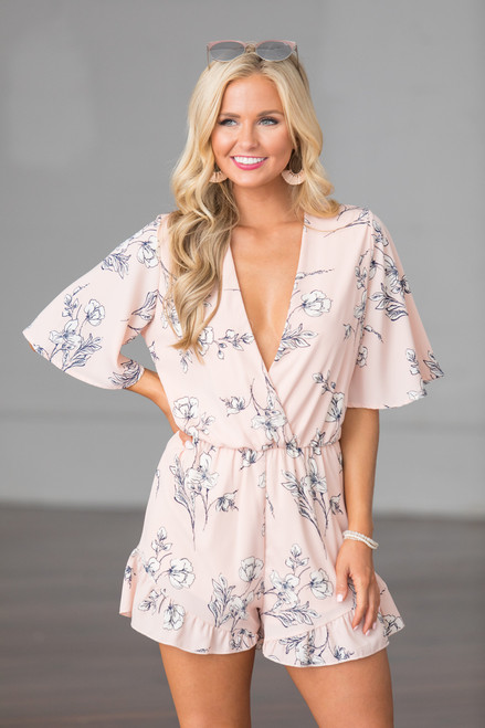 b2c9b3d85768 No Limit To My Love Floral Romper - The Pink Lily