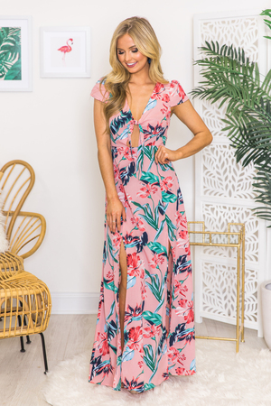 Boutique Floral Dress Explore Long Floral Print Dresses At Pink Lily