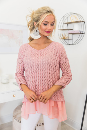 All About This Romance Sweater Blush 105955b40