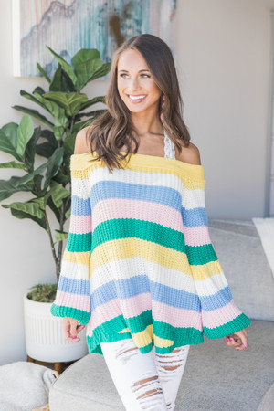 So Many Ways To Dream Striped Sweater Yellow deecc3ddc