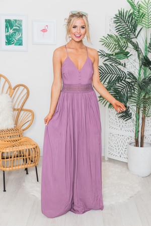dfdfef13fe Magic Of New Beginnings Maxi Dress Faded Plum