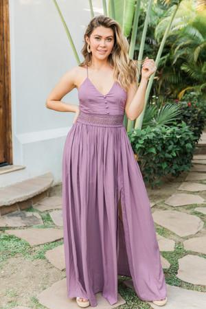 b9f6ac7cd112 Magic Of New Beginnings Maxi Dress Faded Plum