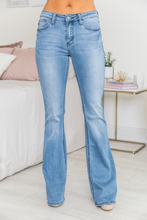 a850fc41be8 The Michelle Medium Wash Flare Jeans