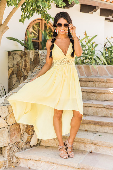 de1596c412f Capture A Sunset Maxi Dress Yellow - The Pink Lily