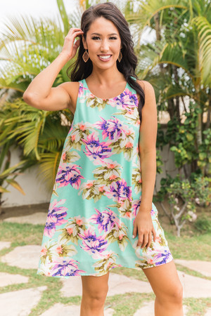 9211a0dd7dc Find Your Serenity Floral Dress Mint