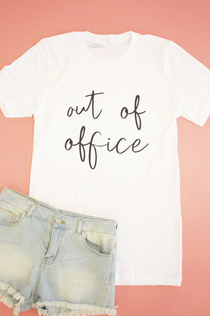 f97bb8c582c Out Of Office Graphic Tee
