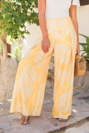 3446d262453 Summer Radiance Floral Pants Yellow