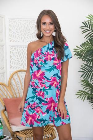 dfd8052d411 Dancing Until Daylight Floral Dress Blue