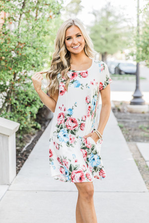 c63d5f5c1b Just So Sweet Floral Dress White