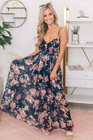 f4973ca8fcd Heaven On Earth Maxi Dress Navy