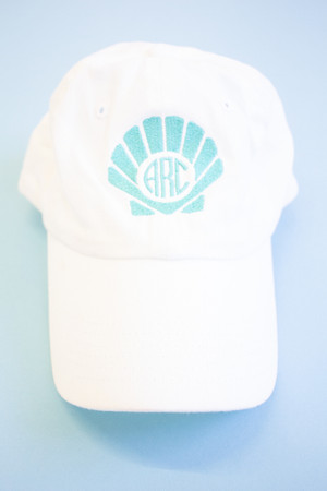 cda6507de061b Shell Monogram Embroidered Baseball Cap