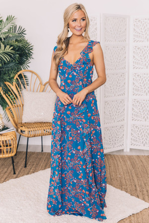 7d66e604e60 It s Not A Dream Floral Maxi Dress Royal