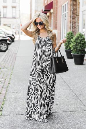 f13479ae65e Let s Talk About Love Zebra Print Maxi Dress