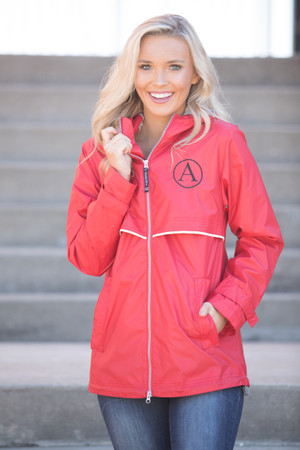 Custom Embroidered Jackets | Find Rain Jackets at Pink Lily