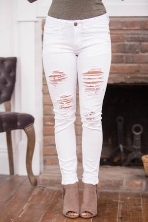 085fbed42da The Heather White Distressed Machine Jeans