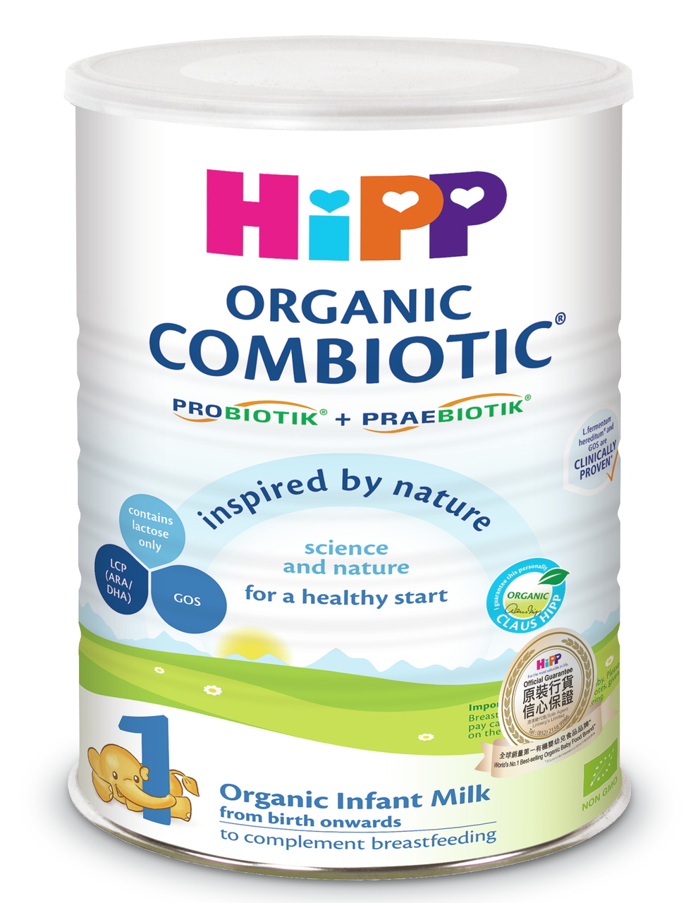HiPP 1 Organic Combiotic Infant Milk 800g (Photo for reference only) | HiPP喜寶有機雙益嬰兒奶粉 800克  (圖片只供參考)
