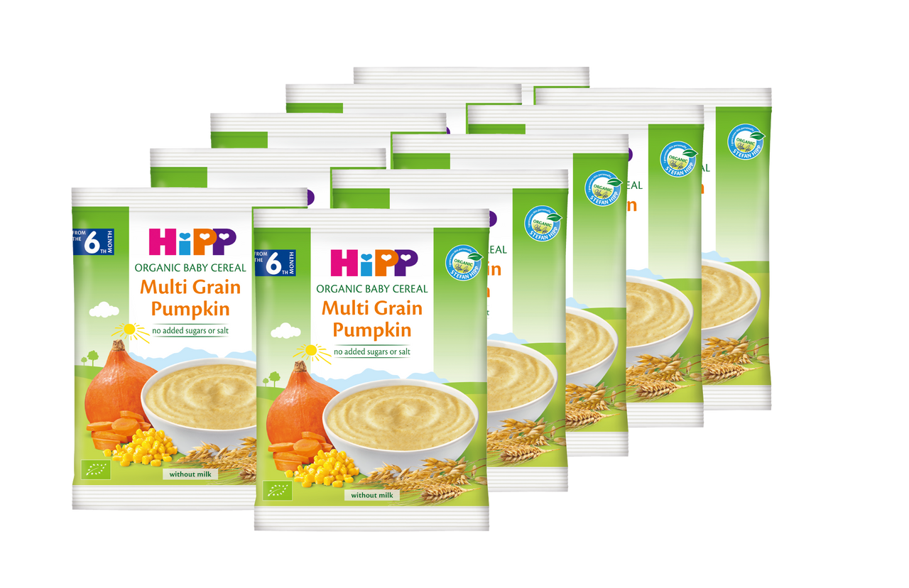 HiPP Organic Cereal pap Multicereal Pumpkin 20g (Photo for reference only ) | HiPP喜寶 有機米糊 - 南瓜多穀物 20克 (圖片只供參考)
