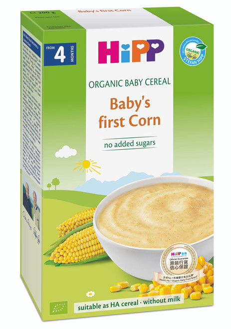 HiPP Organic Cereal Pap - Corn 200g (Photo for reference only) | HiPP 喜寶有機米糊 - 粟米 200克 (圖片只供參考)