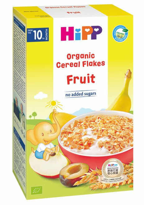 HiPP Organic Cereal Flakes Fruit 200g (Photo for reference only)   HiPP 有機穀物片 雜果 200克 (圖片只供參考)