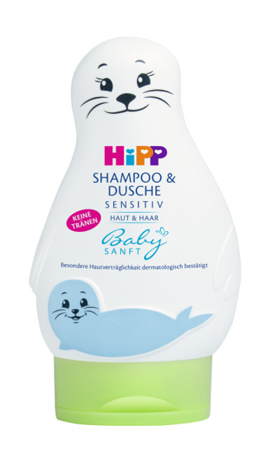 HiPP Babysanft Shampoo & Washing Gel 200ml (Photo for reference only) | 喜寶兒童二合一洗髮沐浴露 200毫升 (圖片只供參考)