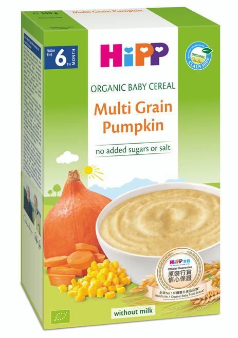 HiPP Organic Cereal pap Multicereal Pumpkin 200g(Photo for reference only) | HiPP喜寶有機米糊 - 南瓜多穀物 200克 (圖片只供參考)