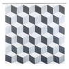 Palazzo Shower Curtain Charcoal/Metallic Silver