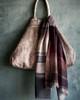 Stripe Wool/Viscose Scarf Eggplant