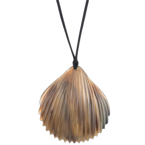 "Scallop Pendant - 3"" Natural"