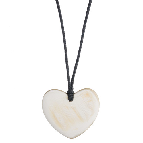 "Heart Pendant - 1.5"" Natural"