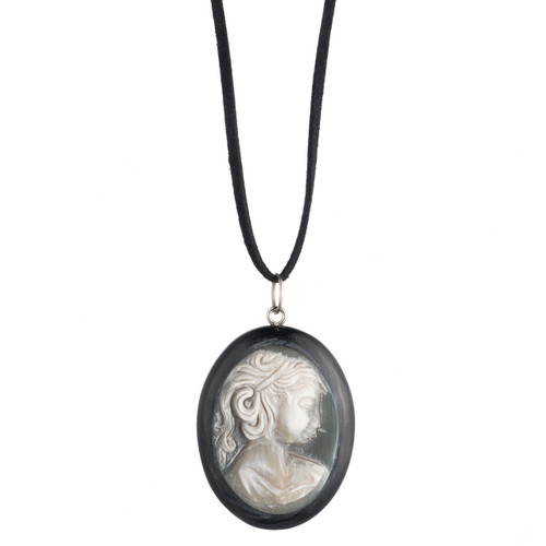 "Cameo Pendant - 2"" Natural"