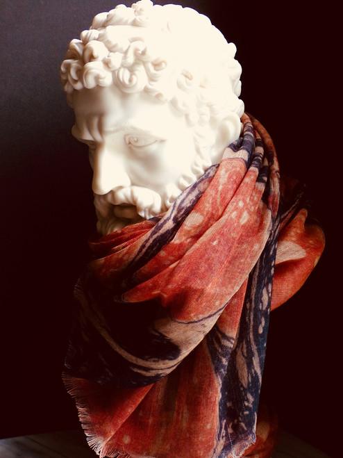 Bronte Linen/Wool Shawl
