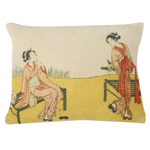 "Kyoto Velvet Cushion 12""x16"""