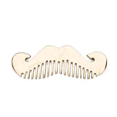 Moustache Brass Comb