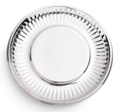 """Paper Plate"" in Stainless Steel Large Set of Four"