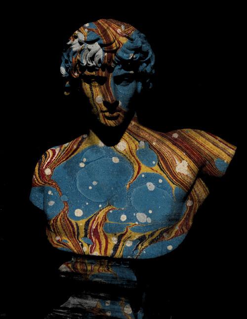 "Antinous Blue Marble Print 16""x20"""