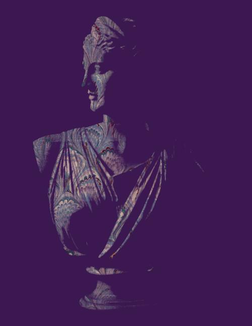"Diana Plum Marble Print 11""x14"""
