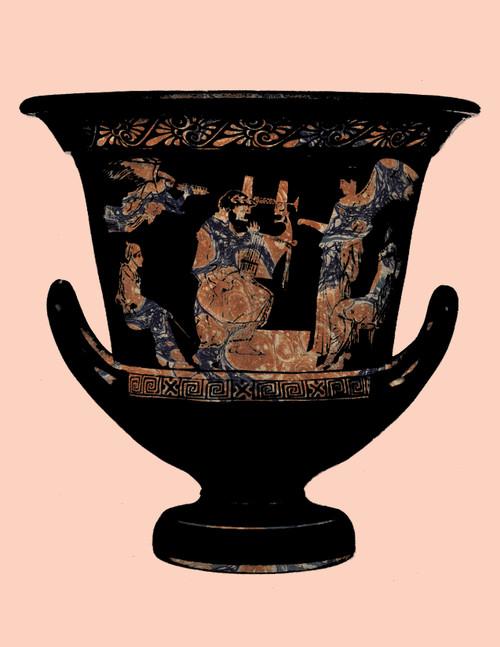 "Greek Vase Peach Print 8""x10"""