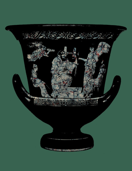 "Greek Vase Green Print 11""x14"""