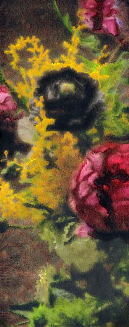 Peony Cashmere/Silk Scarf Yellow