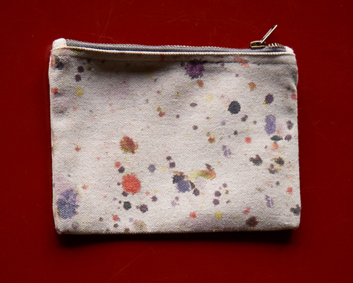 Splat Small Canvas Pouch