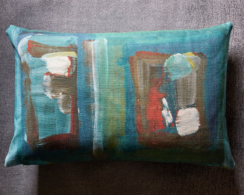 Abstract Decorative Pillow Green