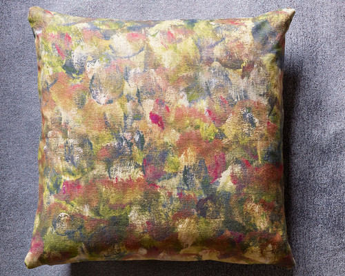 Palette Decorative Pillow Ochre