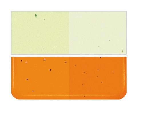 Bullseye Glass Light Orange Striker, Dbl-rolled 001025-0030-F-1010