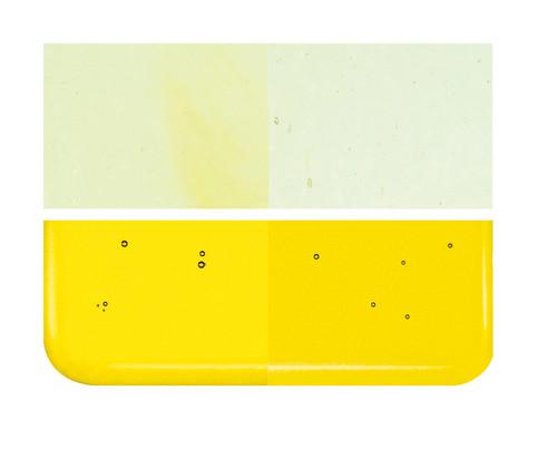 Bullseye Glass Yellow Transparent, Dbl-rolled 001120-0030-F-1010
