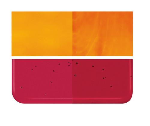Bullseye Glass Garnet Red, Dbl-rolled 001322-0030-F-1010